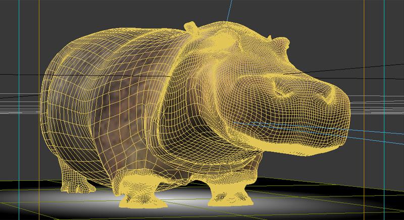 hypo alpe adria hippo 3d wireframe