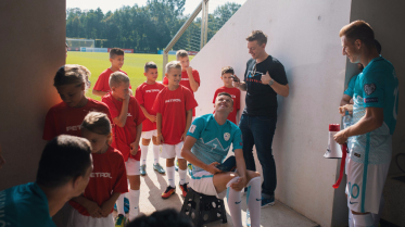 Time out with young players and Slovenian National Football Players